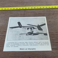 1931 PATI1 Nouveau Type D Hélicoptère - Unclassified