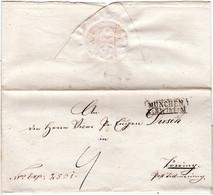 Bayern 1863, R2 MÜNCHEN Auf Porto Brief N. Törring Post Tittmoning - Bavaria