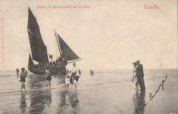 """Ostende """" Bateau De Pêche Échoué Sur Le Sable """" - Oostende"""