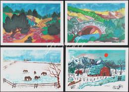 PAYSAGES ARTISTIQUES 1970 : Lot De 4 Cartes Postales - Paintings