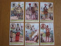 PEUPLADES DU CONGO BELGE 1 ère Partie Afrique Colonie Belgique  Liebig  Série Complète De 6 Chromos Trading Cards Chromo - Liebig