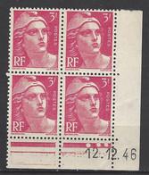 CD 716 FRANCE 1946 COIN DATE 716 :  12 / 12 / 46 TYPE MARIANNE DE GANDON - 1940-1949
