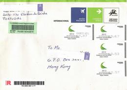 Portugal 2012, ATM, Circulated Cover To Hong Kong - Vignette Di Affrancatura (ATM/Frama)