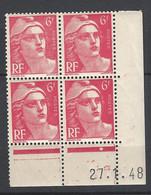 CD 721A FRANCE 1948 COIN DATE 721A :  27 / 1 / 48 TYPE MARIANNE DE GANDON - 1940-1949