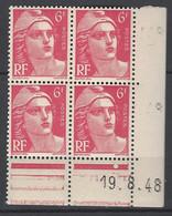 CD 721A FRANCE 1948 COIN DATE 721A :  19 / 8 / 48 TYPE MARIANNE DE GANDON - 1940-1949