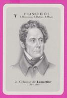 264404 / V Frankreich  2. Alphonse De Lamartine 1790-1869 , French Author, Poet, And Statesman Card - Historische Persönlichkeiten
