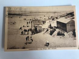 Carte Postale Ancienne (1938) BREDENNE La Plage - Het Strand - Bredene