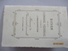 Menükarte, Menu, Beau Rivage Hotel Ouchy Lausanne 1909 Conseil Federal (69571) - Menükarten