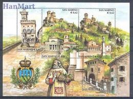 San Marino 2002 Mi Block 31 MNH  (ZE2 SMRbl31) - Castles