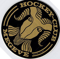 AUTOCOLLANT HOCKEY CLUB MEGEVE 10 CM DE DIAMETRE - Stickers