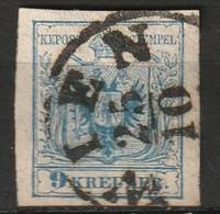 """Österreich 1850 MiNr. 5Y  """"WIEN"""" (Machinenpapier, OWz) Vollrandig - Used Stamps"""