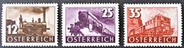 Österreich, Austria  1937 100 Jahre österreichische Eisenbahn. Railroad, Trains Mi. 646-648 MNH ** - Unused Stamps