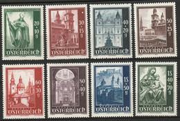 Österreich, Austria  1948 Mi. 885-892 Complete Set MH * - 1945-60 Neufs