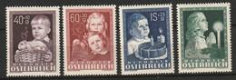 Österreich, Austria  1949 Kinderfürsorge Mi. 929-932 Complete Set MLH * - 1945-60 Unused Stamps