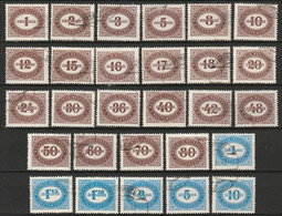 Österreich, Austria  1947 Portomarken Mi. P204-231 Complete 28 Werte. Gestempeld - Postage Due