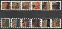 2021 FRANCE Adhesif 1968-78 Oblitérés, Kandinsky , Carnet Complet, 11 Timbres + 1 En Double - Sellos Autoadhesivos
