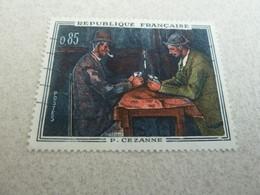 Paul Cézanne (1839-1906) Les Joueurs De Cartes - 85c. - Polychrome - Année 1961 - - Usati