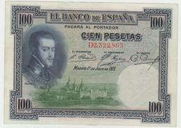 Spain 100 Pesetas 1925 P-69c XF - 100 Pesetas