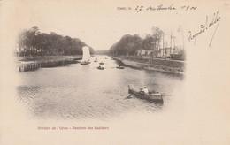 Caen - 1900 -  Rivière De L'Orne  - Entrée Des Sabliers  ( Carte Précurseur) - Scan Recto- Verso - Caen