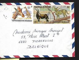 République Du Burundi Lettre Animaux   1981  Pour Florenville  En Belgique - 1980-89: Ongebruikt