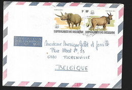 République Du Burundi Lettre Animaux    1981 De Bujumbura   Pour Florenville  En Belgique - 1980-89: Ongebruikt