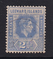 Leeward Is.: 1938/51   KGVI    SG105a    2½d   Light Bright Blue  Used - Leeward  Islands