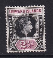 Leeward Is.: 1938/51   KGVI    SG106    2½d   Black & Purple  Used - Leeward  Islands