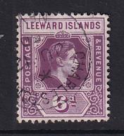 Leeward Is.: 1938/51   KGVI    SG109a    6d   Deep Dull Purple & Bright Purple  [Ordinary Paper]   Used - Leeward  Islands