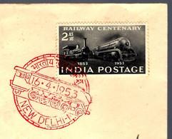 CENTENAIRE DU TRAIN - NEW DELHI - 16 AVRIL 1953 - INDE - Trenes