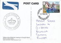 Tristan Da Cunha 2017 Postcard Yellow-nose Albatross Nesting On Gough Island Ca Tristan 22 FEB 2017 (F8715) - Tristan Da Cunha