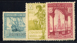 SPAIN, NO.'S 345a, 346 AND 347, MH - Nuovi
