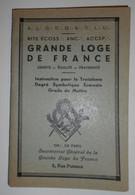 Franc Maçonnerie, Grande Loge De France, Rite Ecossais, Instruction 3eme Degré  (bon Etat) - Other