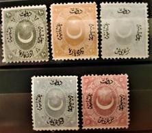 TURQUIE - 1867 N° 13/17 (*) - (voir Scan) - Nuovi