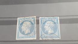 LOT550352 TIMBRE DE FRANCE OBLITERE  CACHET POINTILLE - 1853-1860 Napoléon III