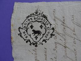 """1750 GENERALITE DE BOURGES Papier Timbré N°171 """"DIX DEN.3"""" Vicomté De Bridiers Près La Souterraine (Creuse) - Seals Of Generality"""