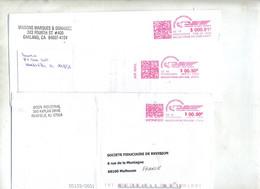 Lettre Machine Pitney - Postal History