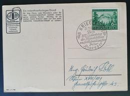 """Deutsches Reich 1943, Werbe-Postkarten """"Indanthren"""" Sonderstempel KRIEGLACH """"Peter Rosegger"""" - Storia Postale"""