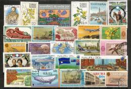Timbres Des ILES (Turks & Caicos,Coco Keeling,Marshall,Trinidad & Tobago,Nauru,Belize,Papua,Aruba,etc) # 2 - Alla Rinfusa (max 999 Francobolli)