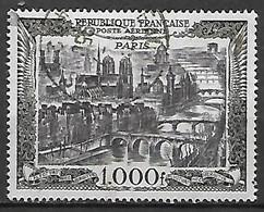 FRANCE  -   Poste Aérienne  -  1950 . Y&T N° 29 Oblitéré.  Vue De Paris - 1927-1959 Usati