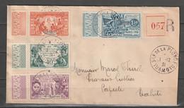 Océanie N° 80 - 83, Lettre Recommandée, Sce De La Plonge Tuamutu Pour Papeete 01/12/1931 - Cartas