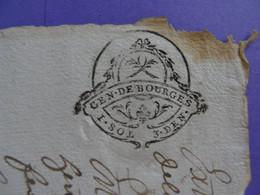 """1768 GENERALITE DE BOURGES Papier Timbré N°191 """"1 SOL 3 DEN"""" Vicomté De Bridiers La Souterraine Creuse Anne Vignaud - Seals Of Generality"""
