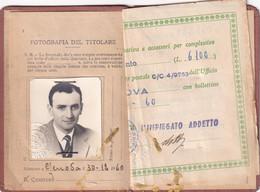 TESSERA PER LICENZE DI PORTO D ARMI  --GENOVA 1960- - Historical Documents