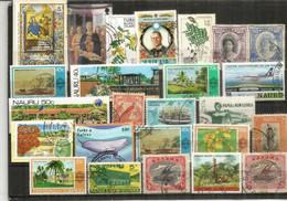 Timbres Des ILES (Turks & Caicos,Christmas,Marshall,Trinidad & Tobago,Nauru,Belize,Papua,Tonga,etc) # 3 - Alla Rinfusa (max 999 Francobolli)
