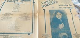 L EMPOISONNEUSE VIOLETTE NOZIERES ASSASSIN DE SES PARENTS - Partitions Musicales Anciennes