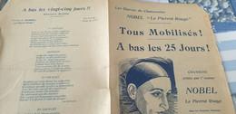 NOBEL LE PIERROT ROUGE /TOUS MOBILISES A BAS LES 25 JOURS - Partitions Musicales Anciennes