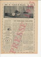Humour 1933 Les Horloges Parlantes Horloge Parlante Système Brillié Edouard Belin Métier Avocat ??  249/23 - Non Classés