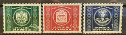 """Österreich 1949, """"UPU"""" Mi 855-57 MNH Postfrisch - 1945-60 Unused Stamps"""