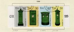 Irlande O N° Yv 1097, 1098, 1099, 1100; Mi 1092, 1093, 1094, 1095; SG 1193a; Boîtes à Lettres. - Gebruikt