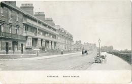 Vintage Postcard-Skegness-South Parade+ Horse & Carriage, Period Fashion, Pram Etc - Altri