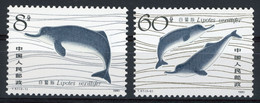 CHINA CHINE 1980 N° 2385 + 2386. Value (cote) 15 € MNH. VG/TB. Lipotes Vexillifer, Chinese Dolfins (dauphins) - Nuovi